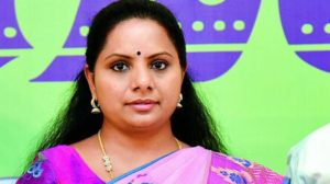 Jai Andhra Slogan by TRS MP Kavitha